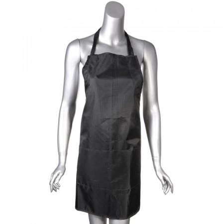 Apron Nylon Woven Check Pattern, Black