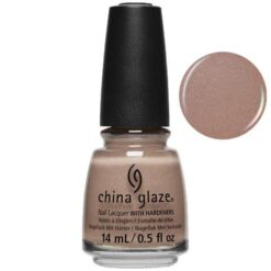 Beaches and Toes China Glaze Nail Varnish 14ml Coral Tone Nude with Holographic Glitter